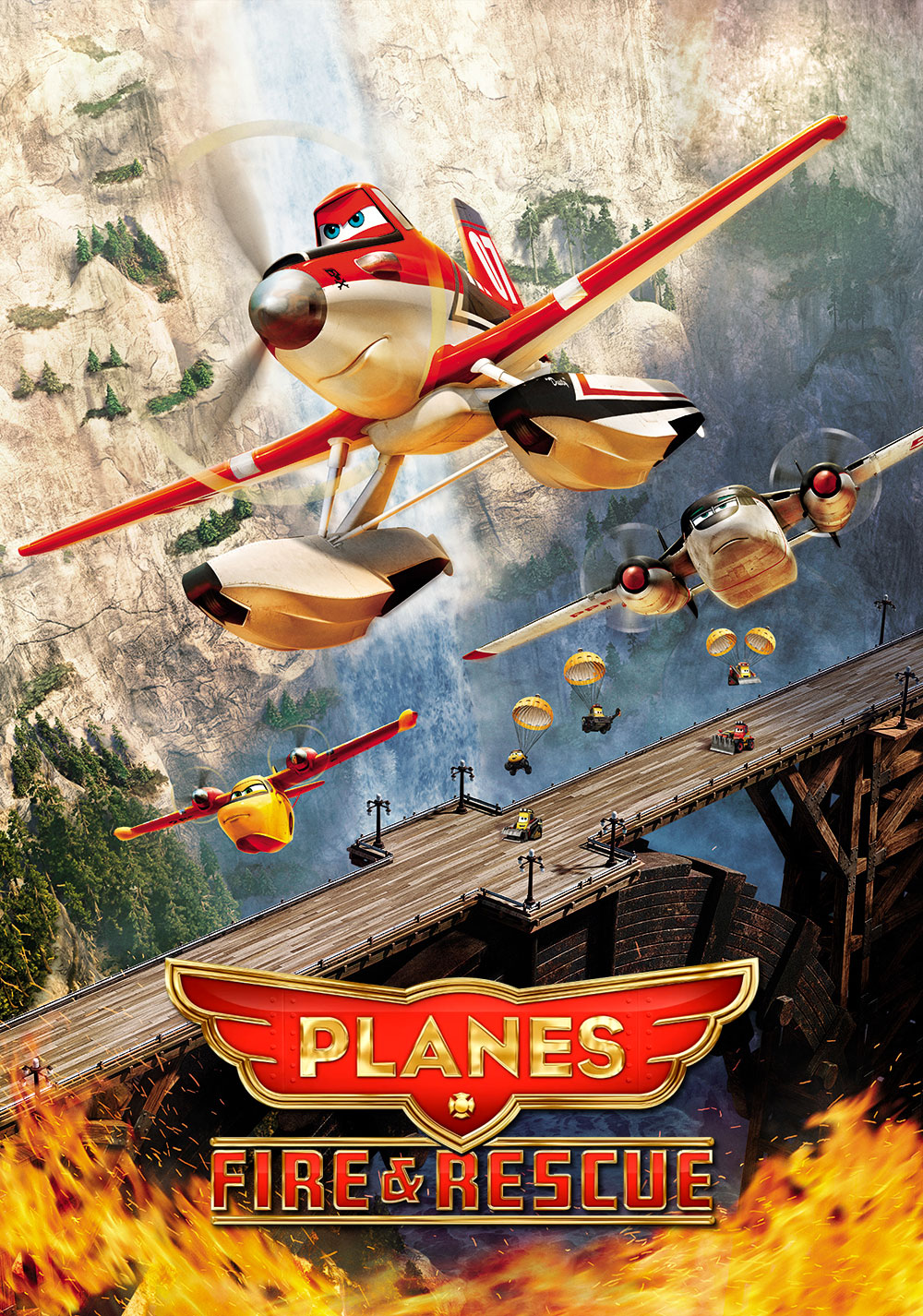 Planes: Fire & Rescue 2014 online anschauen und downloaden ... Planes Movie Poster