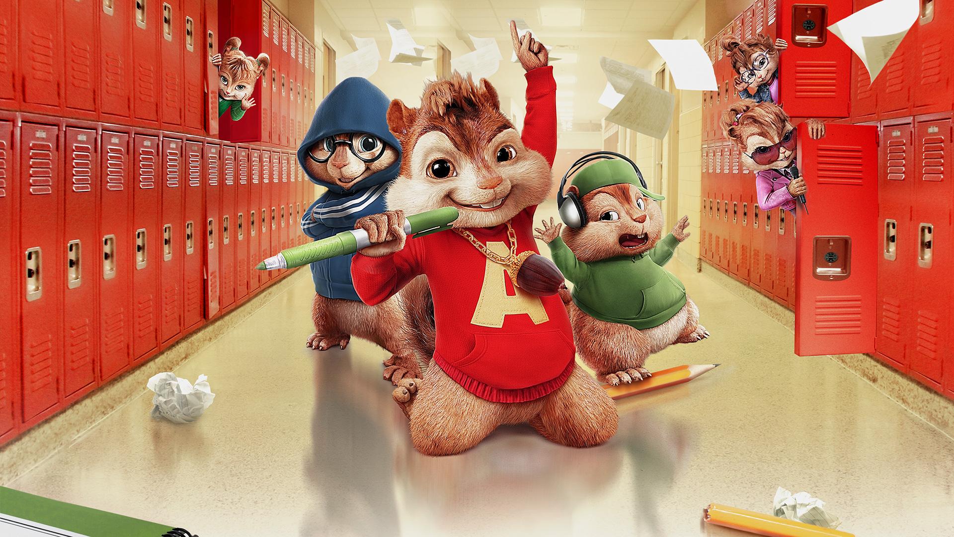 alvin and the chipmunks the squeakquel movie fanart