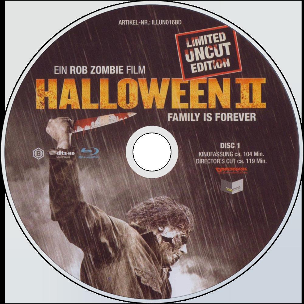 halloween ii bluray disc image - Halloween Ii Blu Ray