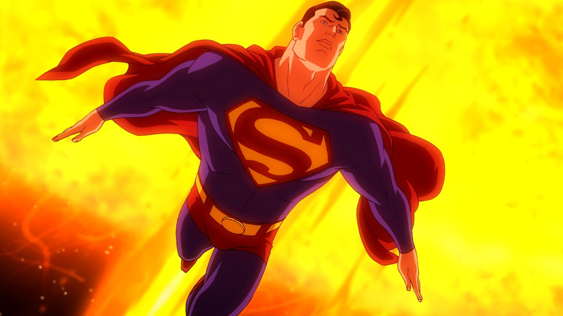superman voando próximo ao sol
