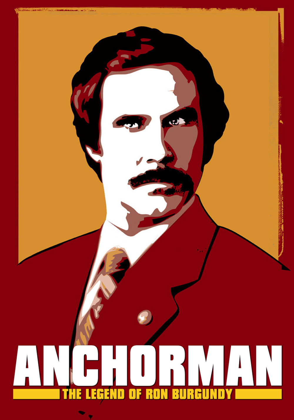 anchorman the legend of ron burgundy movie fanart