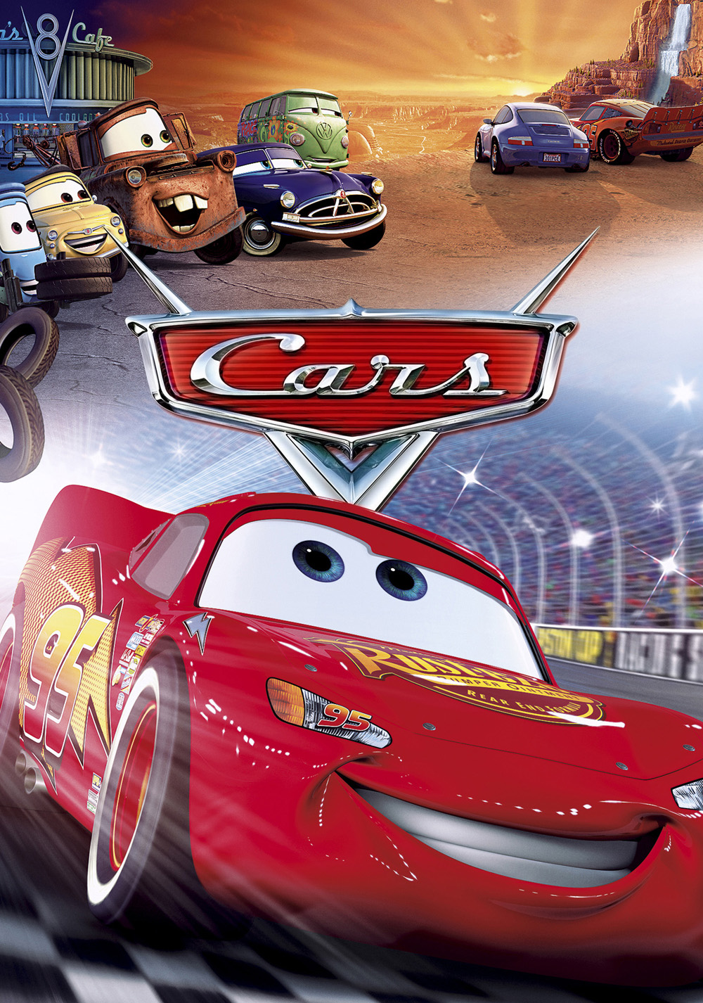 cars tv fanart poster movies film 2006 posters disney pixar dvd carros mcqueen una race films carreras rayo mater walt