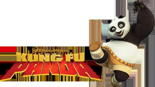 Kung Fu Panda movie image with logo and character
