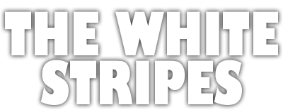 White stripes band logo