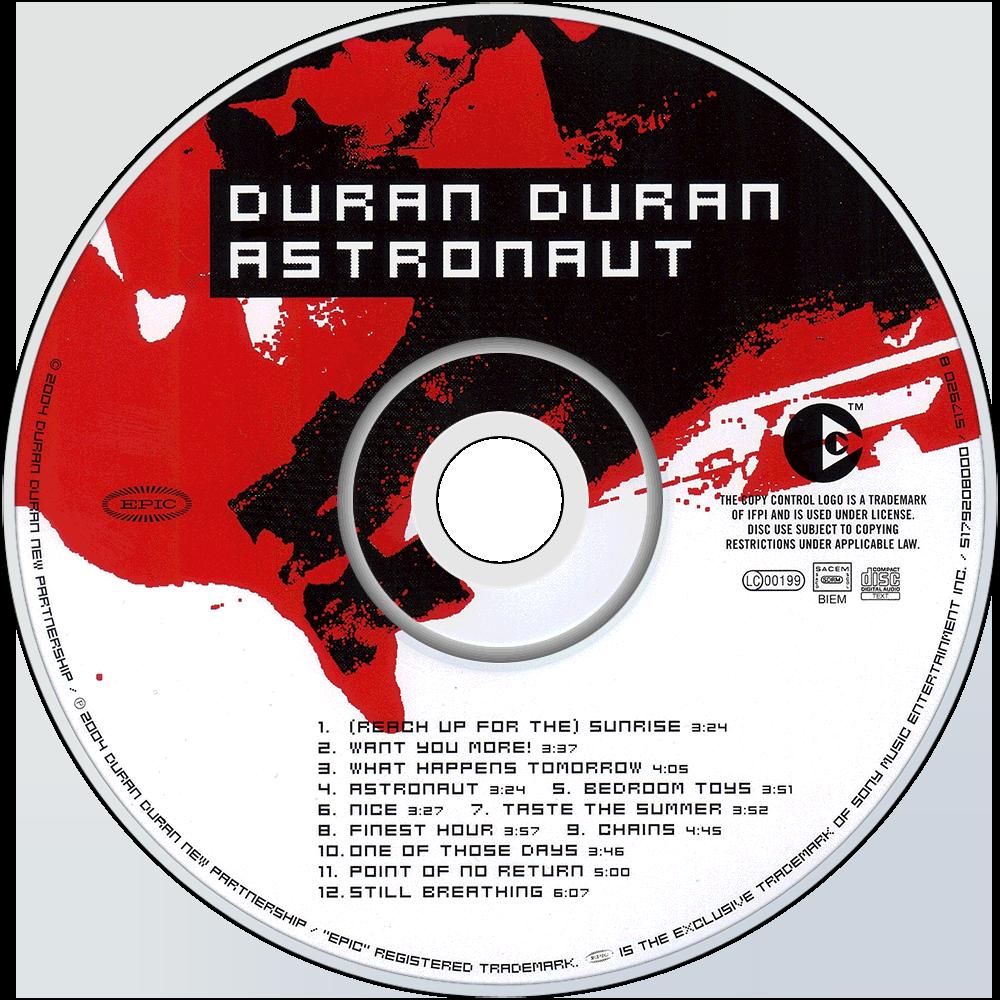 Duran Duran Astronaut cd disc image. Duran Duran   Music fanart   fanart tv