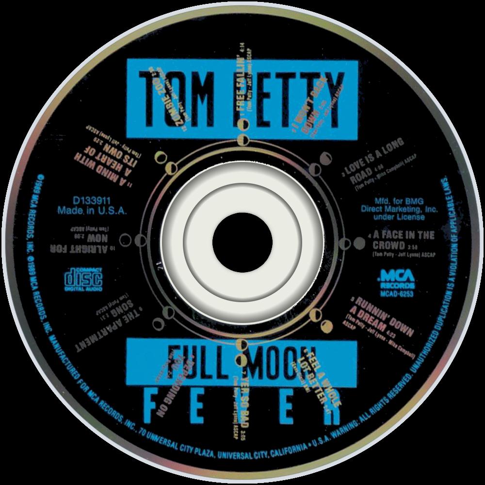 Tom Petty Full Moon Fever cd disc imageTom Petty Full Moon Fever