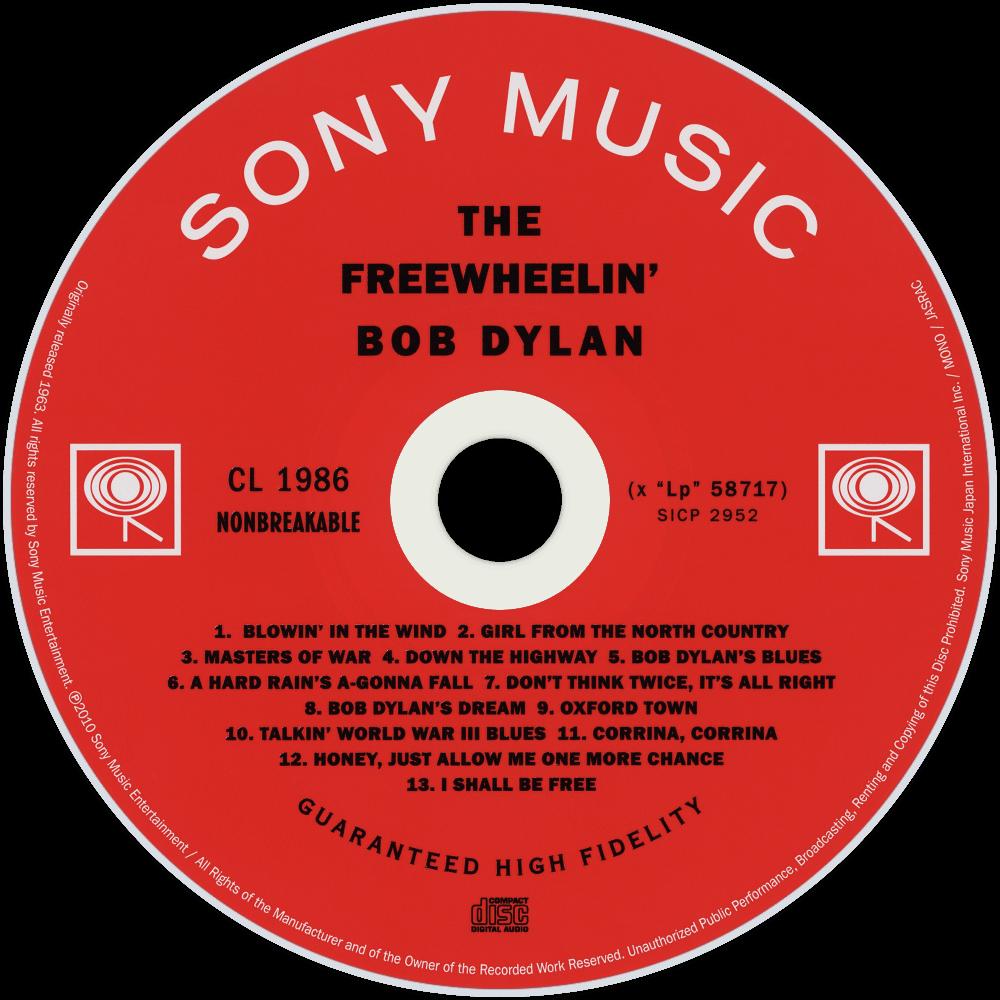bob dylan the freewheelin bob dylan cd disc image short