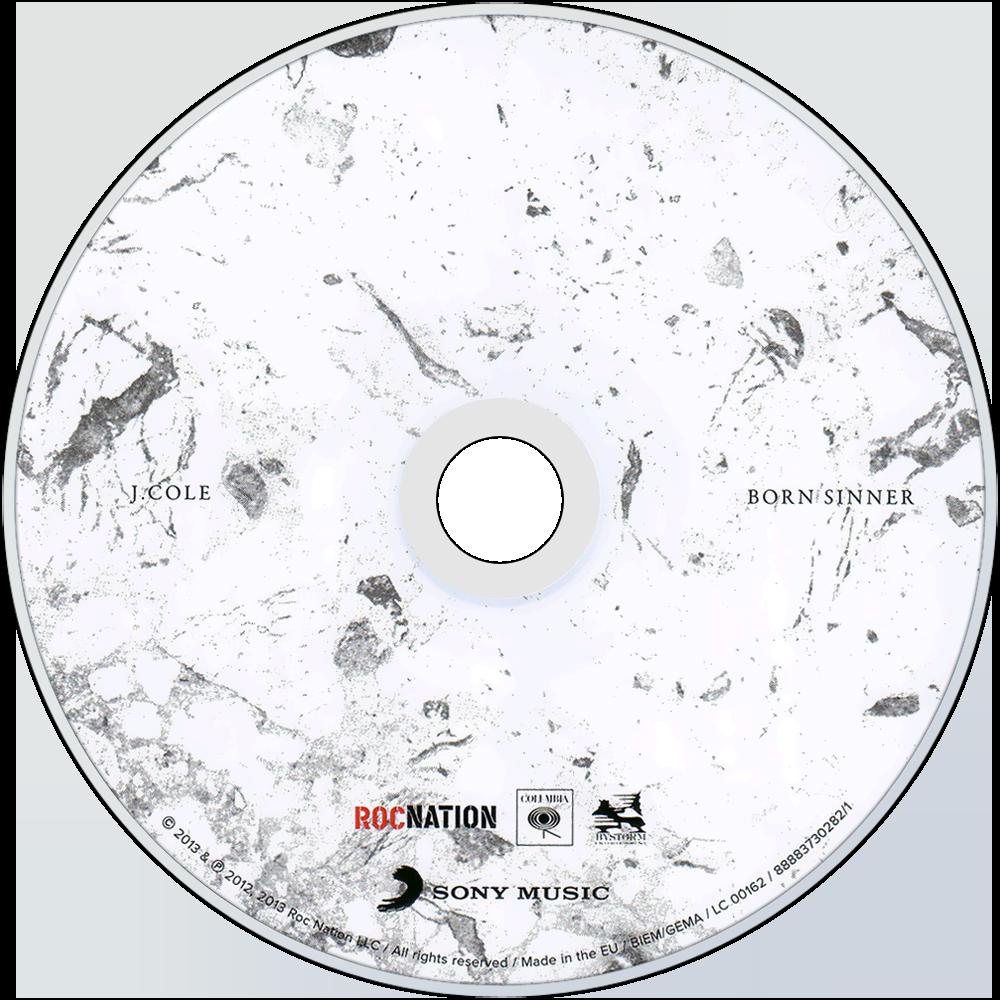 J cole music fanart fanart j cole born sinner cd disc image aloadofball Choice Image