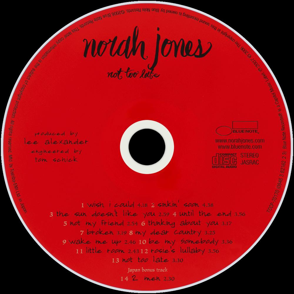 Norah Jones - Not Too Late (CD Album Club Edition)