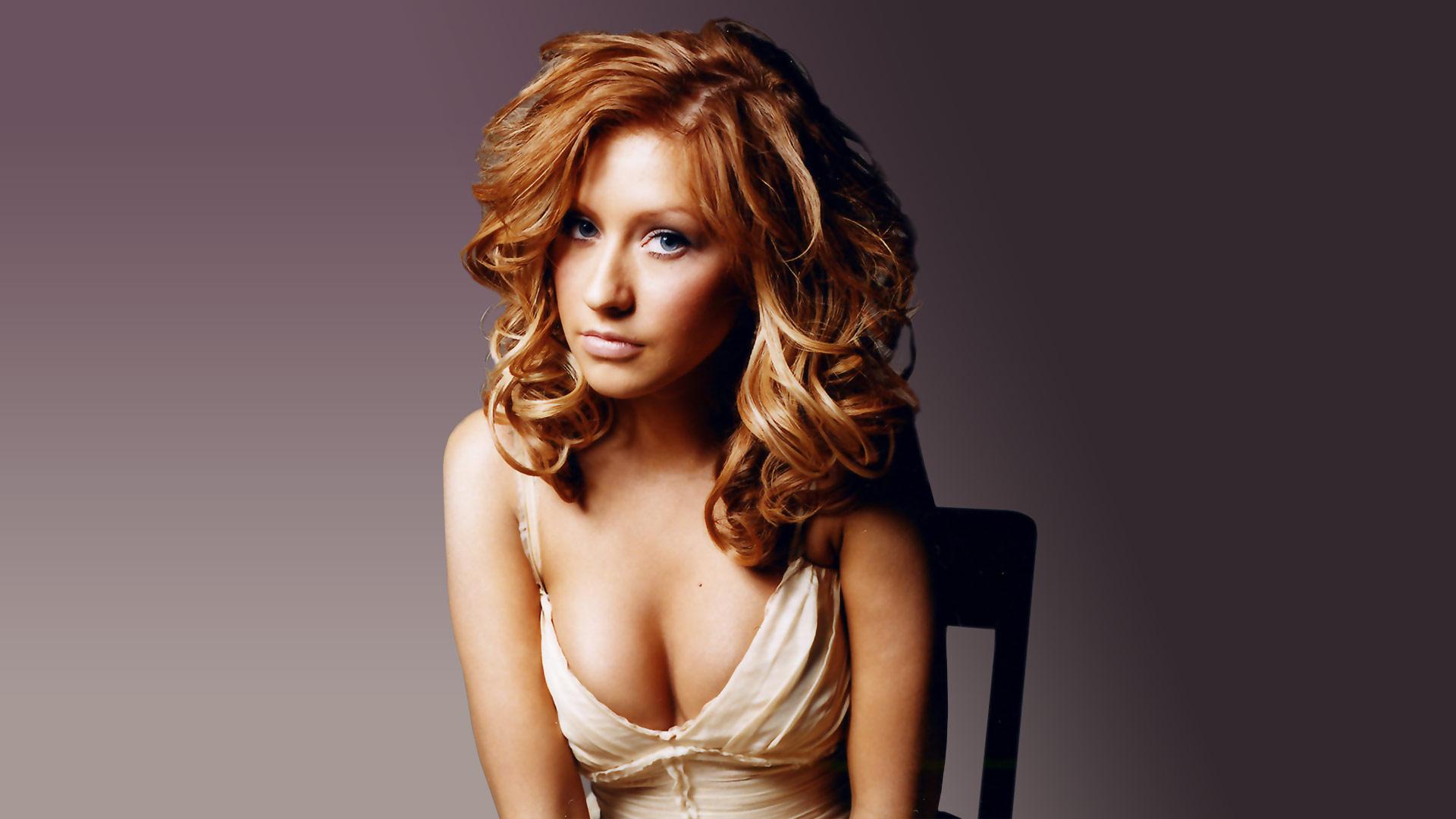 Christina Aguilera backdrop wallpaper