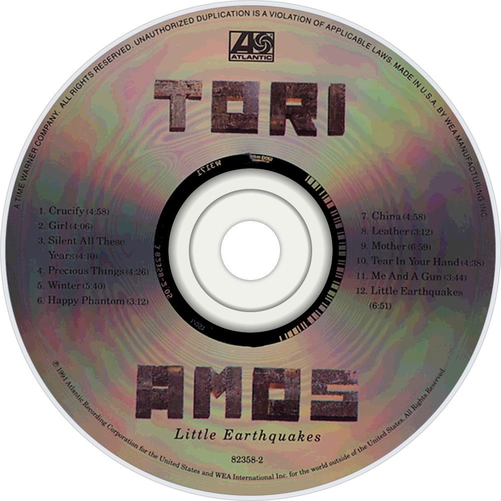 Tori Amos Little Earthquakes cd disc imageTori Amos Little Earthquakes